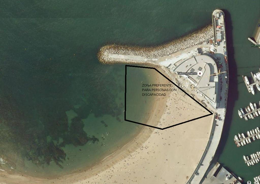 Accesibilidad de la playa de Poniente en Gijón