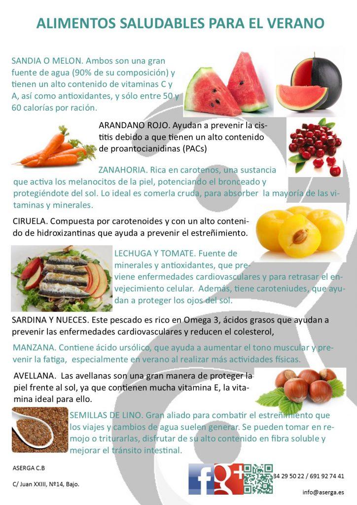 dieta de verano